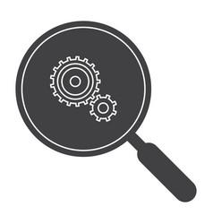 Data analysis silhouette vector