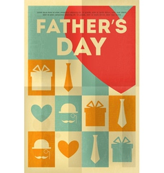 Fathers day poster heart vector