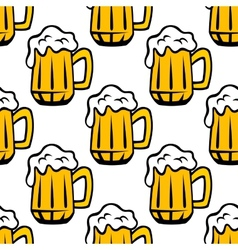 Beer tankard seamless pattern vector