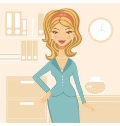 Beautiful business woman vector image