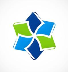 Circular book education ebook logo vector