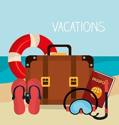 Summer vacations design vector