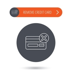 Remove credit card icon shopping sign vector