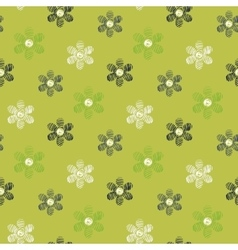 Floral scribble pattern vector