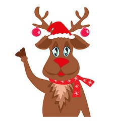 Cute christmas reindeer vector
