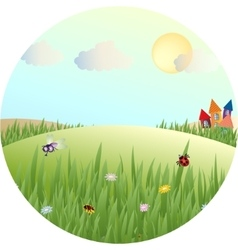 Picture of a fabulous summer meadows vector