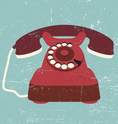 vintage old retro black telephone vector image