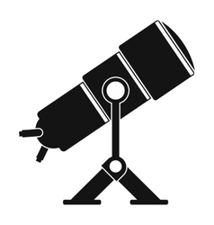 Telescope black simple icon vector