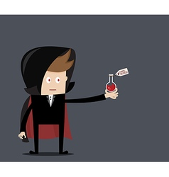 Dracula with blood laboratory glass vector