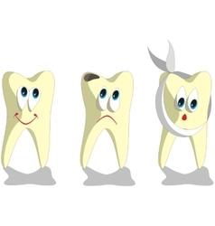 Tooth cartoon set 001 vector image