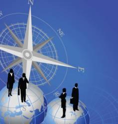 compass globe figure vector image