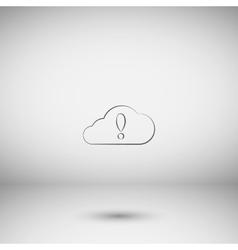 An isolated cloud vector