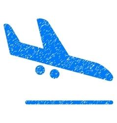 Aiplane landing grainy texture icon vector