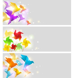 Banner origami vector