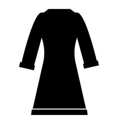 Bathrobe icon simple style vector image