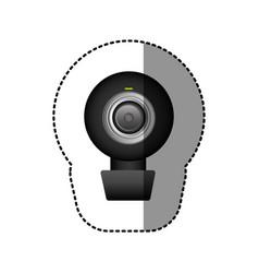 black computer camera icon vector image