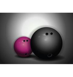 bowling balls vector image vector image