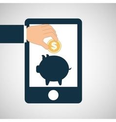 concept saving piggy coin money vector image