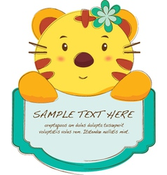 Cute Animal Tab vector image vector image