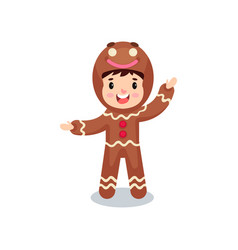 cute smiling little boy in the costume of vector image