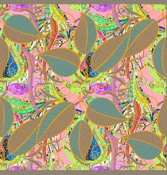 Flat leaf elements design colour summer theme vector