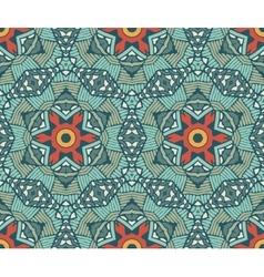 geometric mosaic vintage ethnic seamless pattern vector image vector image