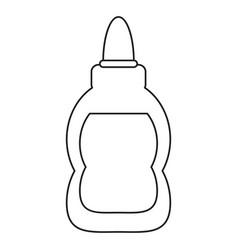 glue school supply design thin line vector image vector image