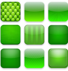Green app icons vector