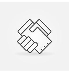 Handshake linear icon vector