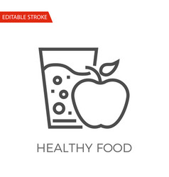 healthy food icon vector image