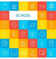 Line School Icons Set vector image vector image