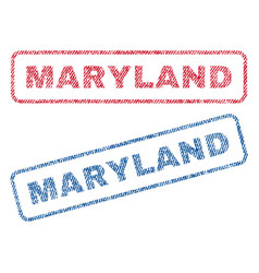 Maryland textile stamps vector