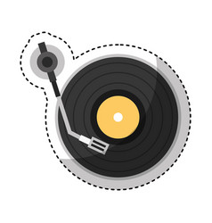 player lp isolated icon vector image