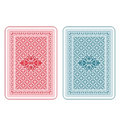 Playing cards back delta vector image vector image