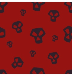 Red Skull Pattern Small vector image vector image