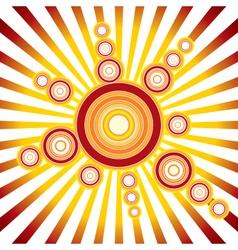 Retro sun background vector