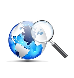 search magnifier vector image