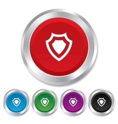 Shield sign icon protection symbol vector