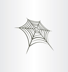 spider web background vector image