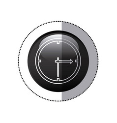 sticker black circular frame with wall clock icon vector image vector image