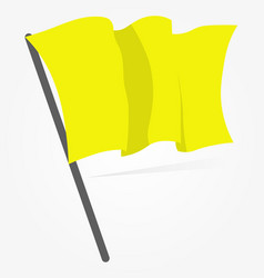 Yellow flag icon isolated on white background vector