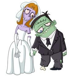 zombie wedding vector image