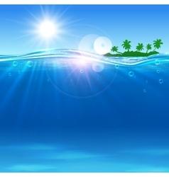 Summer paradise travel poster vector