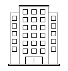 Skyscraper icon outline style vector