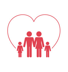 Family health care icon vector
