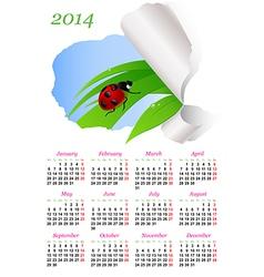 calendar ladybird vector image