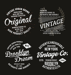 vintage typography for t-shirt print premium vector image