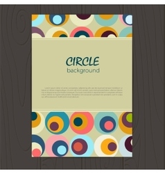 Retro circle corporate identity vector