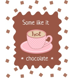 Hot chocolate poster vector
