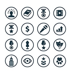 Award icons universal set vector